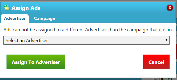 Assign Ads