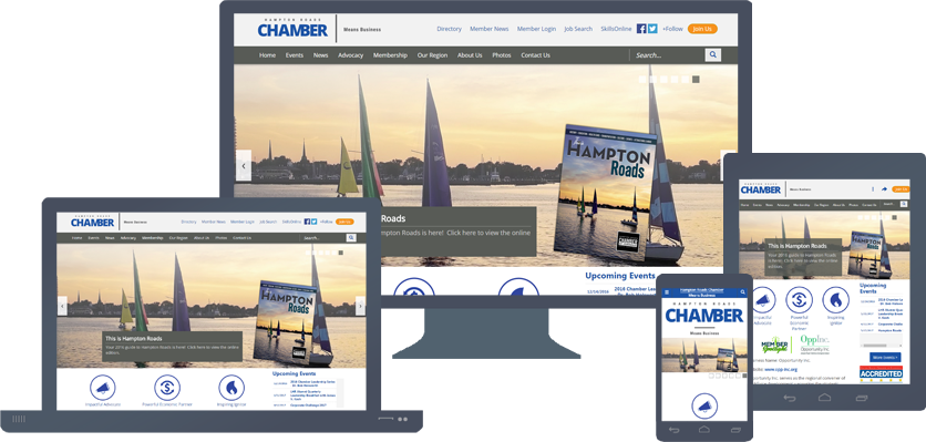 HamptonRoadsChamber.com Rebranding Project